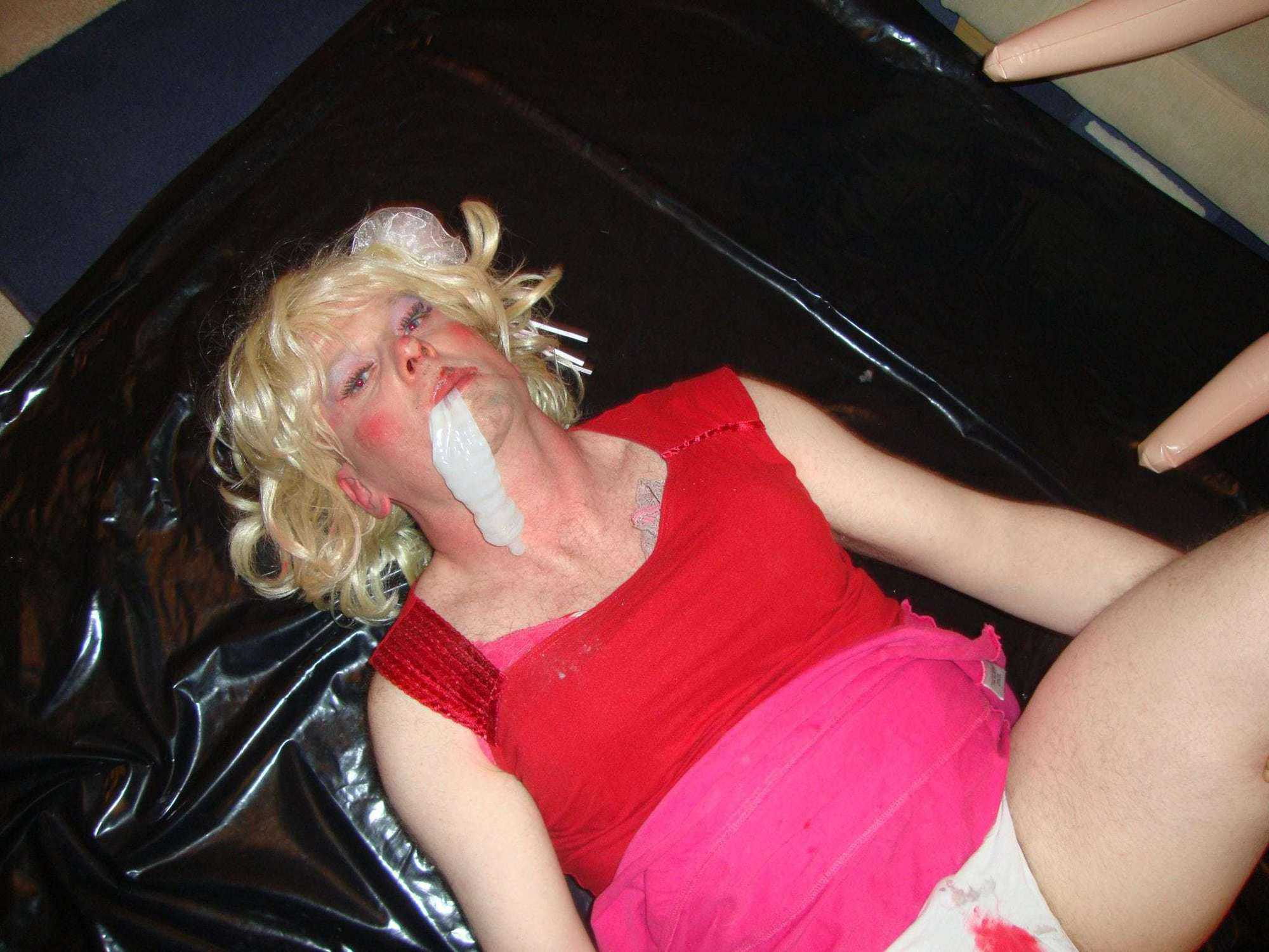 sissy slut humiliated, cum eating bitch